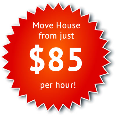Move House from just $85 per hour!